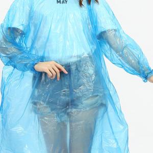 Desechables PE impermeables Poncho ropa de lluvia de viaje abrigo de lluvia portátil Poncho impermeable para Rafting al aire libre RRA2858