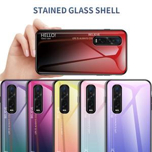 Ultra Slim Gradiente de cor lisa de vidro temperado capa para Oppo Find X2 Pro reyno 6 Pro A9 Reno 2 Z reyno 5