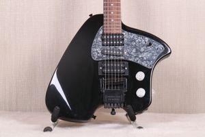 Rare Steve Klein Steinberger Noir Headless Guitare électrique Vibrato Tremolo Arm cordier, Gris Perle pickguard, SAS Micros, Push Pull Pots