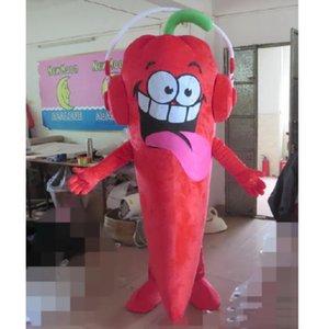 2019 de alta calidad de EVA Material Chili Mascot Disfraz Verduras Dibujos animados Ropa Halloween Cumpleaños anuncio