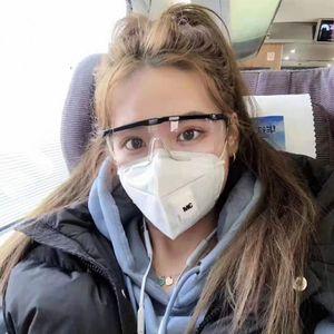 Safety Goggles Anti-splashing Anti-fog Labor Insurance Glasses Wholesale Telescopic Frame Reinforced Film Protective EyeWear