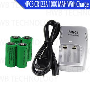 Electrónica de Consumo 4X 16340 1000mah 3 cr123a 16340 batería recargable 3.0v batería RCR123A 16340 baterías de litio + 1pc cargador 3.8v