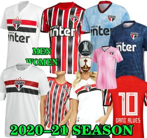 DANI ALVES PATO 19 20 21 Sao Paulo Jersey tercio de distancia negro rojo de fútbol 2019 2020 2021 Brasil Hernanes club de fútbol Inicio camisa blanca Goleiro