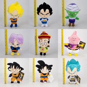 20cm Dragon Ball Z Peluş Oyuncak Yeni Karikatür Kuririn Vegeta Goku Gohan Piccolo Beerus Doldurulmuş Bebekler Çocuklar Noel Hediyesi oyuncak B