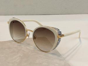 GABBY Novas mulheres de designer óculos de sol encantador Cat olho Pentagrama óculos de metal de design contas de flash galsses 100% de proteção UV400