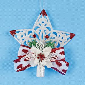 Embosser Out Cinq-Pointed Star Pendentif En Plastique Arbre De Noël Top Ornament Pièces Opp Emballage Vendre Bien Avec De Haute Qualité 5 2pj J1