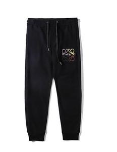 2019 pantaloni della tuta mens progettista hip hop di marca della pista da jogging pantaloni streetwear Lettera loe ricamo Donne Fitness pantaloni jogging