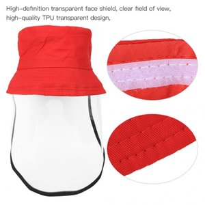 children protective fishermen hat sun protection cycling cap with removable high-definition transparent face shield folding hat