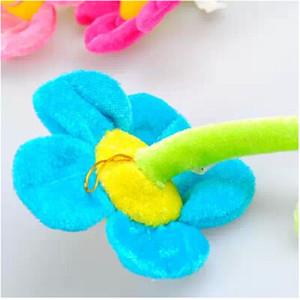 Cortinas cartoon grampos girassol Plush flexível Braçadeira para cortinas Toy Home Dcor flor bonita Meninas do presente de pelúcia