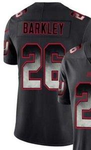 2019 Hombres New York 26 ny Jersey Camisetas Jerseys de fútbol americano Todos los equipos Black Smoke Fashion Limited Jersey