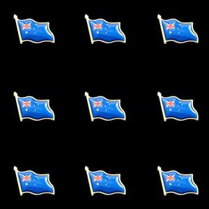 10PCS orgulloso de Australia pintado Bandera de metal insignia símbolo del país adorno de moda broche de recuerdo