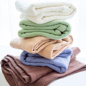 Cotton Muslin Thread Blanket Towel Knitted Blankets for Office Summer Nap Single Piano Sofa Cover Plaid Bedspread