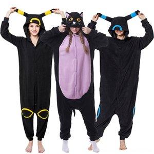 Gece Kedi Onesies Kara Kedi Pijama Battaniyeler Kundak Çocuk Yatak İçin Unisex Yetişkin Pijama Cosplay Kostüm Hayvan Onesie pijamalar