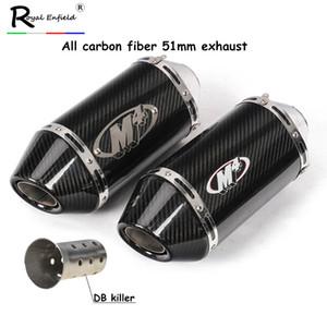 38-51mm للدراجات النارية الكربون الخمار الأنابيب M4 Exhuast الهروب الدراجات النارية 200CC 250CC 300CC 400CC 600CC 750CC فئة 500cc R1 MT07 MT-09 R6 R3