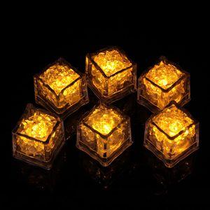 ملون فلاش LED مكعبات الثلج DIY الاستشعار المياه موضوع تغيير لون الضوء مكعبات الثلج عيد الميلاد حزب LED عيد الميلاد ديكور LJJA3265-2