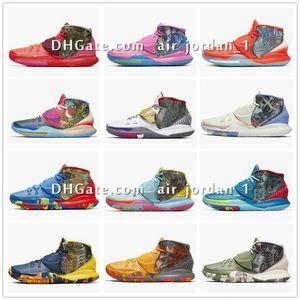 Kyrie 6 Préchauffez NYC Miami Houston LA Shanghai Pékin Guangzhou Taipei Tokyo Manille Berlin Guérissez les chaussures du monde Basketbal CN9839-100-101 a2