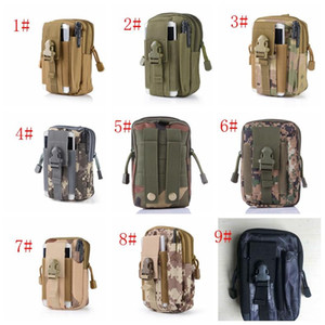 El deporte del filtro impermeable de cintura táctica de camuflaje correa de cintura del paquete de Fanny bolso militar al aire libre Senderismo bolsa de la cintura para la linterna de teléfono HH9-A2591