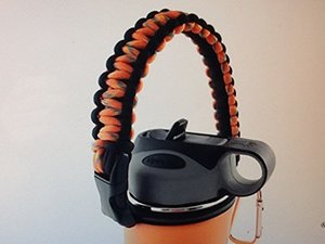 Braided reins Paracord handle Carrier rope Holder Strap Cord for wide mouth 18oz 32oz 40oz 64oz stainless steel water bottle