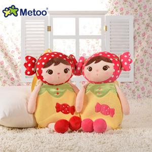 Plush Backpack Metoo Boneca macia Brinquedos Bebê bonito da menina dos desenhos animados Bichos de pelúcia para o miúdo Aluno da Escola Bolsa de Ombro Em MX200327 Kindergarten