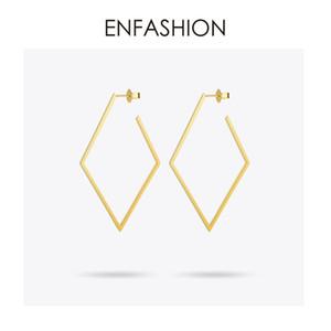 Gioielli Enfashion Geometriche Grandi Orecchini Rombi Color Oro Orecchini Lunghi In Acciaio Inox Per Le Donne Orecchini Eb171035 C19041101