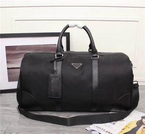 Livraison gratuite dans le monde entier classique paquet de luxe toile sac de voyage pour hommes en cuir de vachette meilleure qualité sac à main 8001 taille 50 cm 28 cm 27 cm