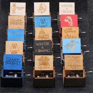 Thrones oyulmuş Kraliçe Müzik Kutusu Harry Potter Oyunu Ahşap Müzik Kutusu Noel Hediyesi EEA1303 Hand-krank