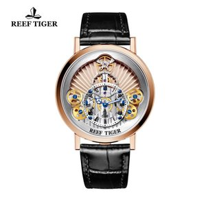 2019 Mens Watches Top Brand Luxury Reef Tiger RT Mens Designer Casual Watches Fashion Quartz Skeleton Watches Relogio Masculino