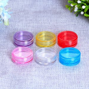 Free Shipping 2g mini Plastic Wax Containers Jar Capacity Cosmetics Box 11 Colors Face Cream Storage Case Cosmetic Storage Boxes B3803