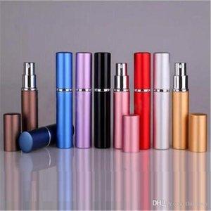New Hot 9 cores de 6 ml Mini portátil Perfume recarregáveis Atomizador colorido frasco de spray garrafas de perfume vazio
