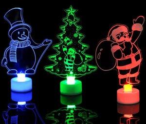 HOT عيد الميلاد ديكريشن LED أضواء الإبداعية تغيير لون الخفيفة ليلة ثلج سانتا كلوز برج شجرة عيد الميلاد مضيئة الديكورات مصباح فانوس