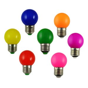 LED Colorful Lamp Bulbs E27 Screw LED Bulbs G60 G45 Bulb Outdoor Decorations Home Interior Decoration 0.5W 1W 3W 5W Multiple Color
