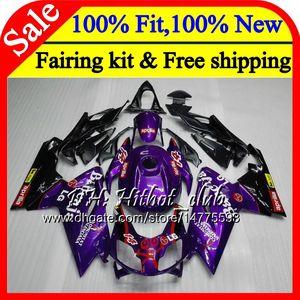 Purple blk Injection لـ Aprilia RS4 RSV125 RS125 06 07 08 09 10 11 RS-125 0HT1 RSV RS 125 2006 2007 2008 2009 2010 2011 Fairing Bodywork