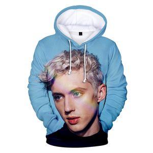 Troye Sivan 3D Imprimir Pareja camisetas de la manera del otoño del resorte de la manga hoodies flojos ropa de cuello redondo suéter ropa informal