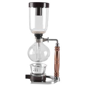 A fabricante japonesa de café Estilo Siphon Tea sifão de vácuo pot tipo cafeteira de vidro filtro máquina de café kahve makinas 3cup