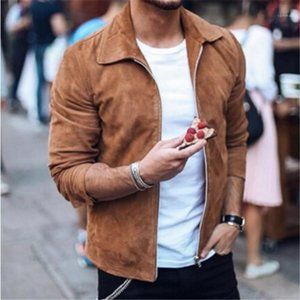 Mens Jackets Lapel Neck Long Sleeve Cardigan Mens Coats Casual Solid Color Mens Clothes Spring Autumn Designer