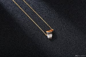 HOT M110830 Designer Necklace High VersionCoke Donuts in One Pendant Jewelry Girlfriend Birthday Gift Iced Out Chains as A Present
