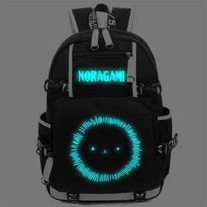 Designer-aragoto YATO Backpack Anime Luminous Shoulder Bag Cosplay Nylon Laptop Viagem Schoolbag frete grátis