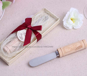 50PCS خمر الاحتياطي الفولاذ المقاوم للصدأ خشبي النبيذ كورك التعامل مع الجبن الموزعة الموزعات عرس الحسنات هدايا هدية