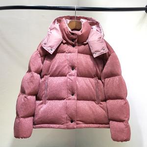 2018 NOUVEAU M5 femme Casual bas veste à capuche haute qualité canard blanc hiver parkas marque design survêtement d'hiver brillant rose couleur