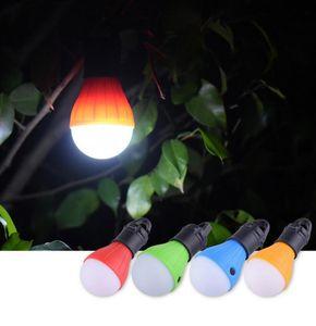 Açık Kamp Aksesuar için Mini Taşınabilir Fener Çadır Işık 3led Ampul SOS Acil Lambası Su geçirmez Asma Kanca El feneri