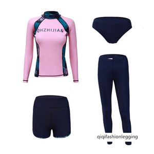 20 women's diving suit long-sleeved trousers sunscreen four-piece set surfing snorkel jellyfish suit sports swimsuit