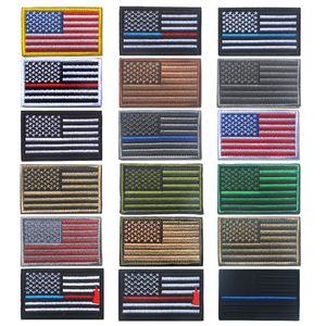 أعلام عالية الجودة شعار الولايات المتحدة الأمريكية العلم الأميركي الكتفية شارات للملابس الجاهزة والتطريز الجيش تصحيح شارة لصق