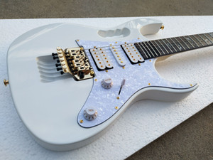 Все Китай Гитарное фасоведение Лучшее качество 7 Wh Wh White Electric Guitar Scalloped Fingboard, Abalone Vine Inlay, Floyd Rose Tremolo, Lion Claw