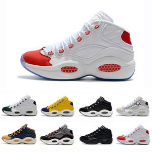 С коробкой дизайнерская обувь Allen Iverson вопрос Mid Q1 баскетбольная обувь ответ 1s Zoom Мужские спортивные роскошные элитные спортивные кроссовки EU40-46