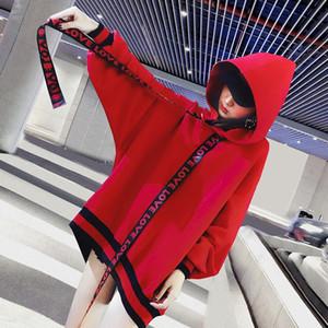 Mulheres branco designer de moletom com capuz casaco de moletom suor outono outono marca de maré com capuz além de veludo camisola feminina personalidade solta bf vento