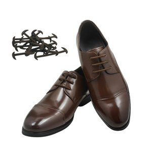 12 Pcs 3 Sizes Men Women Leather Shoes Lazy No Tie Shoelaces Elastic Silicone Shoe Lace Casual Sport Shoe Laces Drop Shipping
