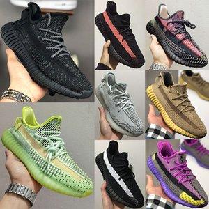 2020 Adidas yeezy 350 V2 Kanye West 3M Static Laufschuhe New Israfil Cinder Wüste Weiser Erde Rücklicht Zebra Damen Herren Turnschuhe Turnschuhe 36-48