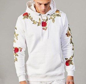 Brand mens hoodies new classic fashion designer sweatshirt flower embroidery street hip hop hoodie long sleeve mens sweater free shipping