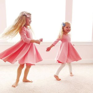Manica lunga Bianco Rosa Nero Autunno Dress Felpa per i bambini delle neonate del bambino principessa partito Tutu di Tulle spettacolo del vestito da sposa