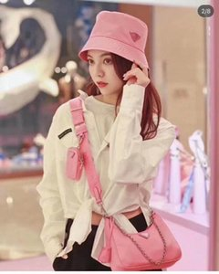 The new pink fisherman hat is a casual style for women